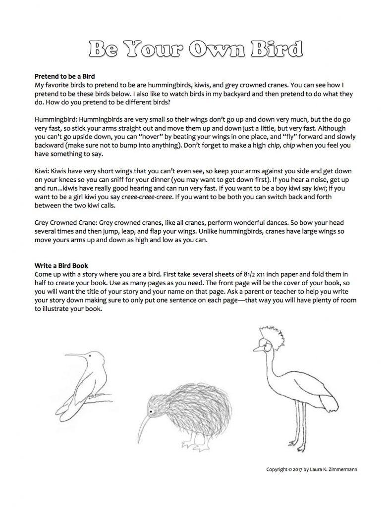 Be Your Own Bird copyright Laura K. Zimmermann