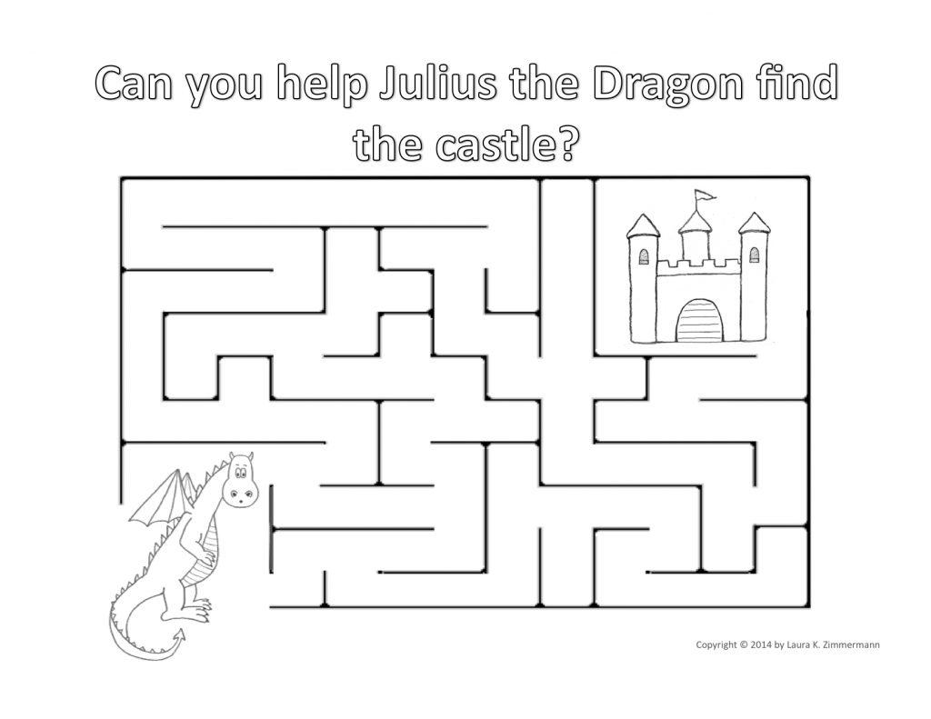 Julius the Dragon Castle Maze copyright Laura K. Zimmermann